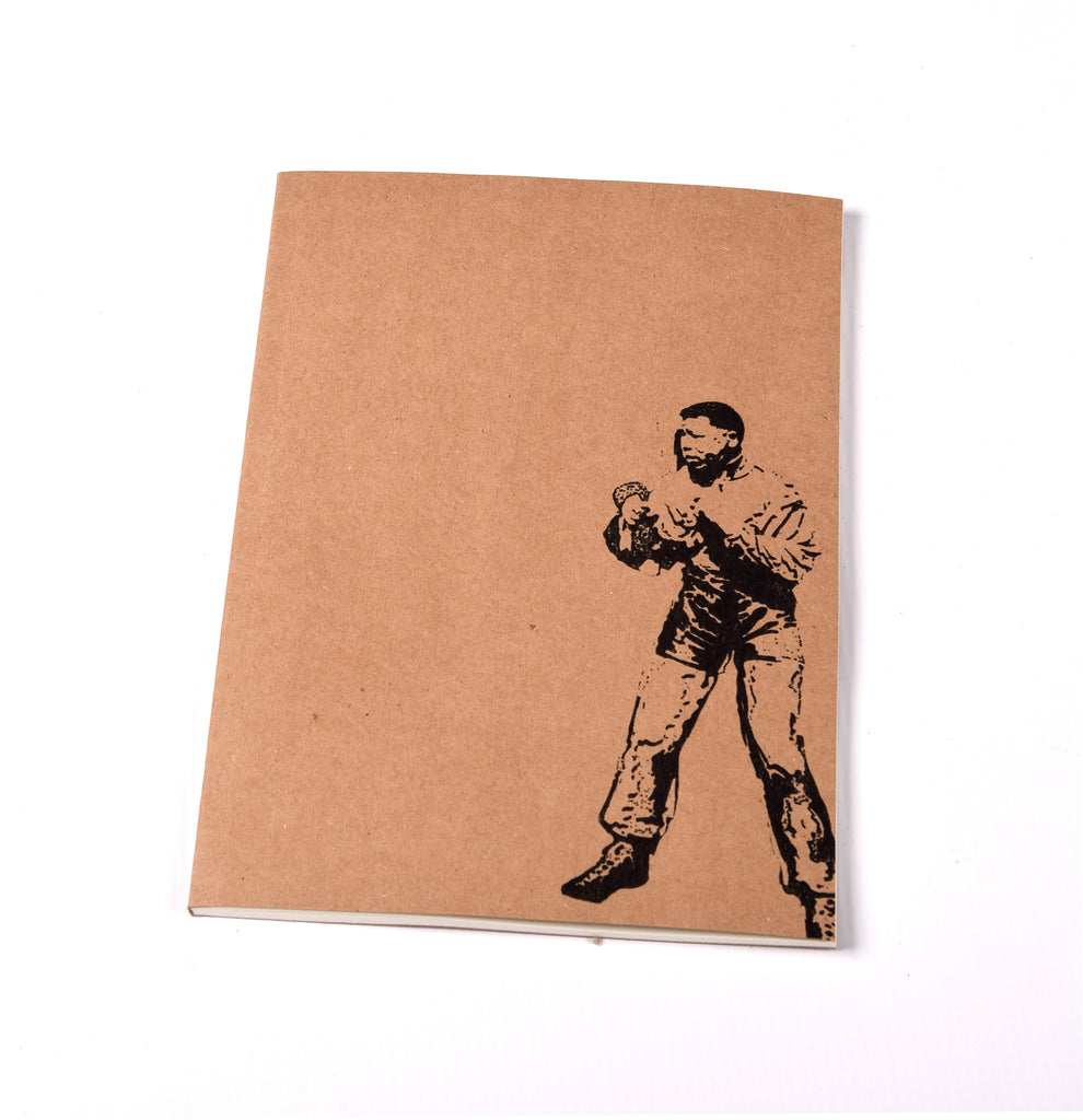 Notebook Brown Floppy Cover Boxing Madiba Statue | www.iiilovelocal.com