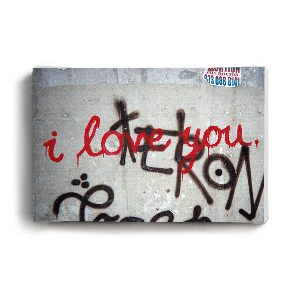 Canvas Print I Love You | www.iiilovelocal.com