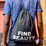 Drawstring Bag Find Beauty | www.iiilovelocal.com