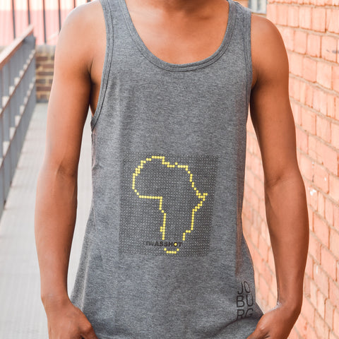T-Shirt Black - Gold Africa Dots