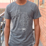 T-Shirt Grey - Africa Circles | www.iiilovelocal.com