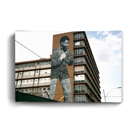 Post Card Boxing Madiba on Building