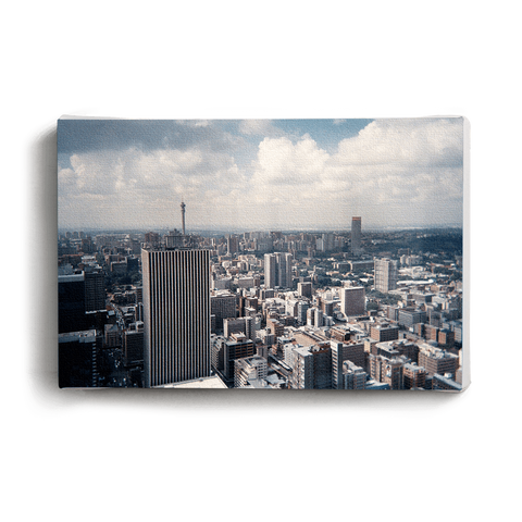 Canvas Print Train Skyline