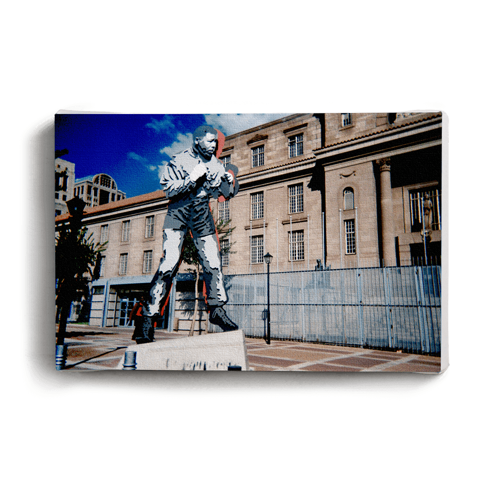 Canvas Print Boxing Madiba Statue | www.iiilovelocal.com