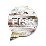 Recycled Rolled Paper Speech Bubble Eish | www.iiilovelocal.com