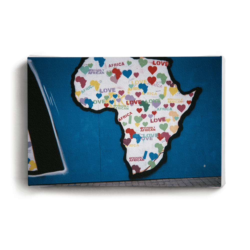 Canvas Print Love Africa | www.iiilovelocal.com