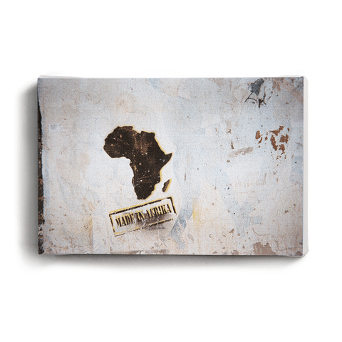 Canvas Print Boxing Madiba Statue