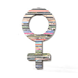 Recycled Rolled Paper FEMALE SIGN | www.iiilovelocal.com