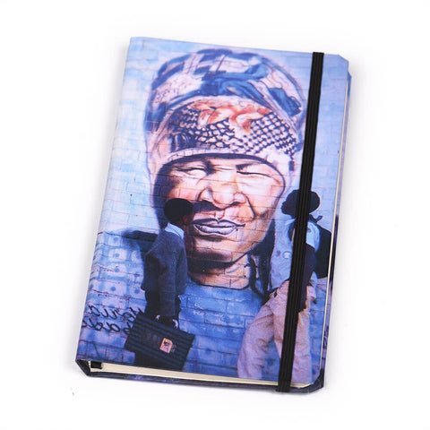 Notebook Floppy Cover Boxing Madiba on Building