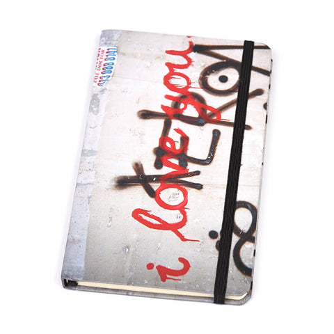 Notebook Floppy Cover I Love You