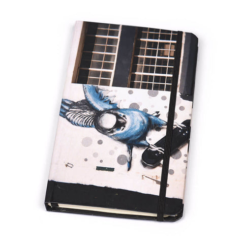 Notebook Hard Cover Blue Lady