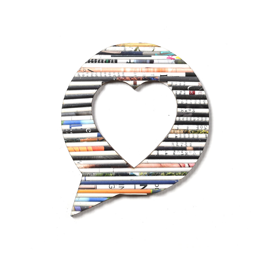Recycled Rolled Paper SPEECH BUBBLE HEART | www.iiilovelocal.com