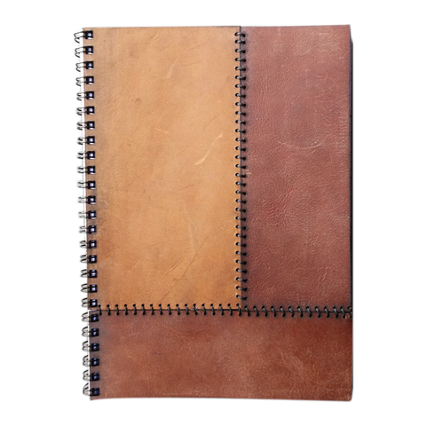 Notebook Ring Bound Leather A6