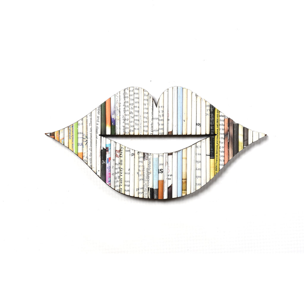 Recycled Rolled Paper Lips | www.iiilovelocal.com