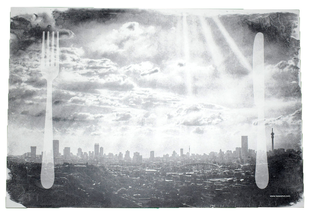 Disposable Placemats (12) Johannesburg Skyline | www.iiilovelocal.com