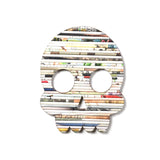 Recycled Rolled Paper Skull | www.iiilovelocal.com