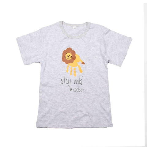 Kids-T Light Grey - Hand Print SAVE