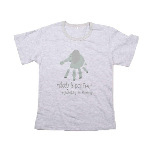 Kids-T Light Grey - Hand Print SMILE