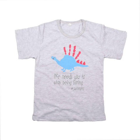 Kids-T Light Grey - Hand Print FUN
