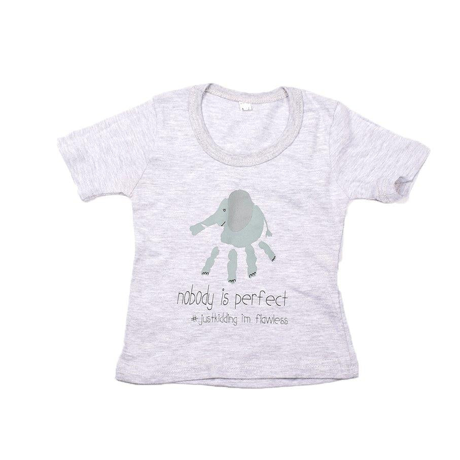 Baby-T Light Grey - Hand Print PERFECT | www.iiilovelocal.com