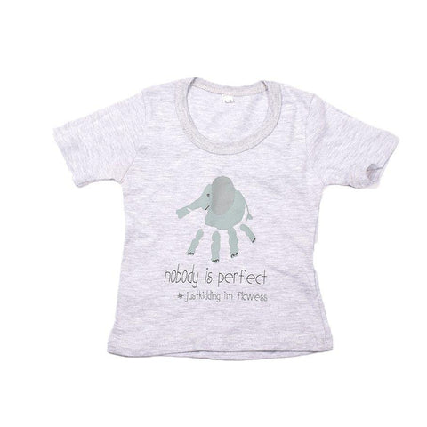 Baby-T Light Grey - Africa Dots
