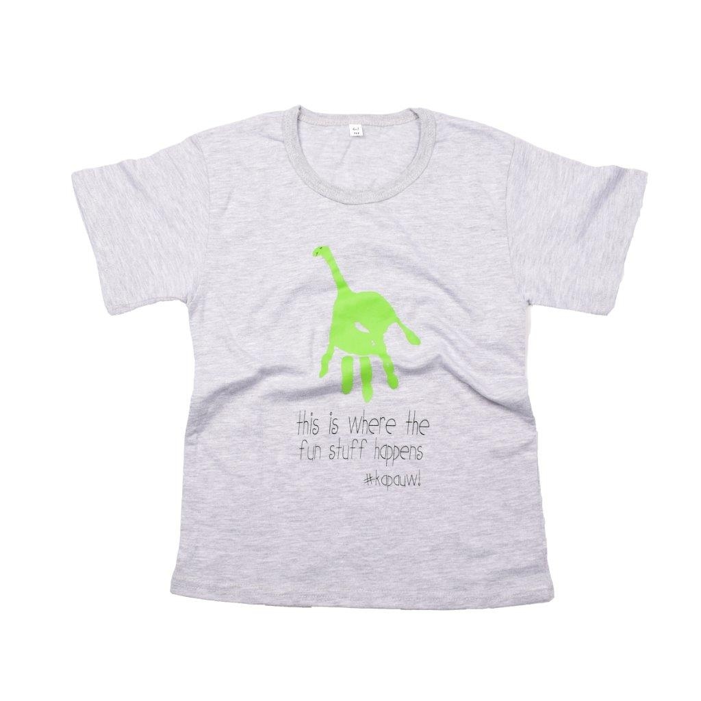 Kids-T Light Grey - Hand Print FUN | www.iiilovelocal.com