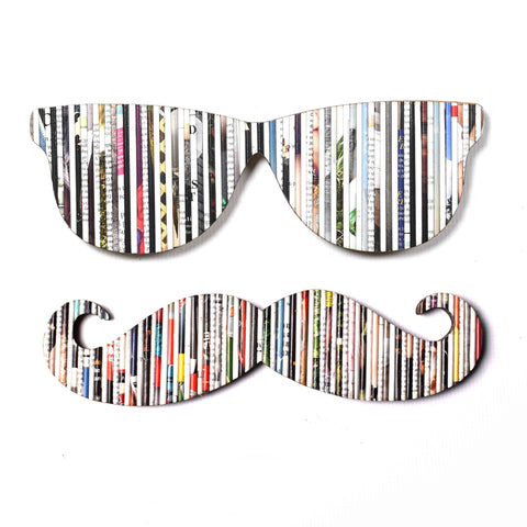 Recycled Rolled Paper MOUSTACHE