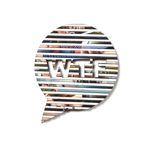Brooch Speech Bubble - WTF (RP)