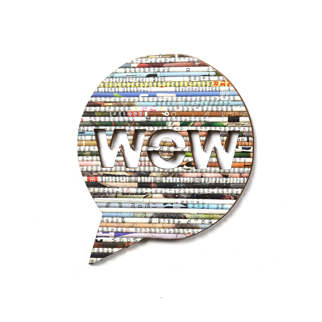 Recycled Rolled Paper SPEECH BUBBLE WOW | www.iiilovelocal.com