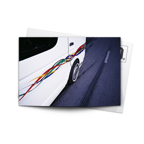 Canvas Print Black & White Taxi Scene