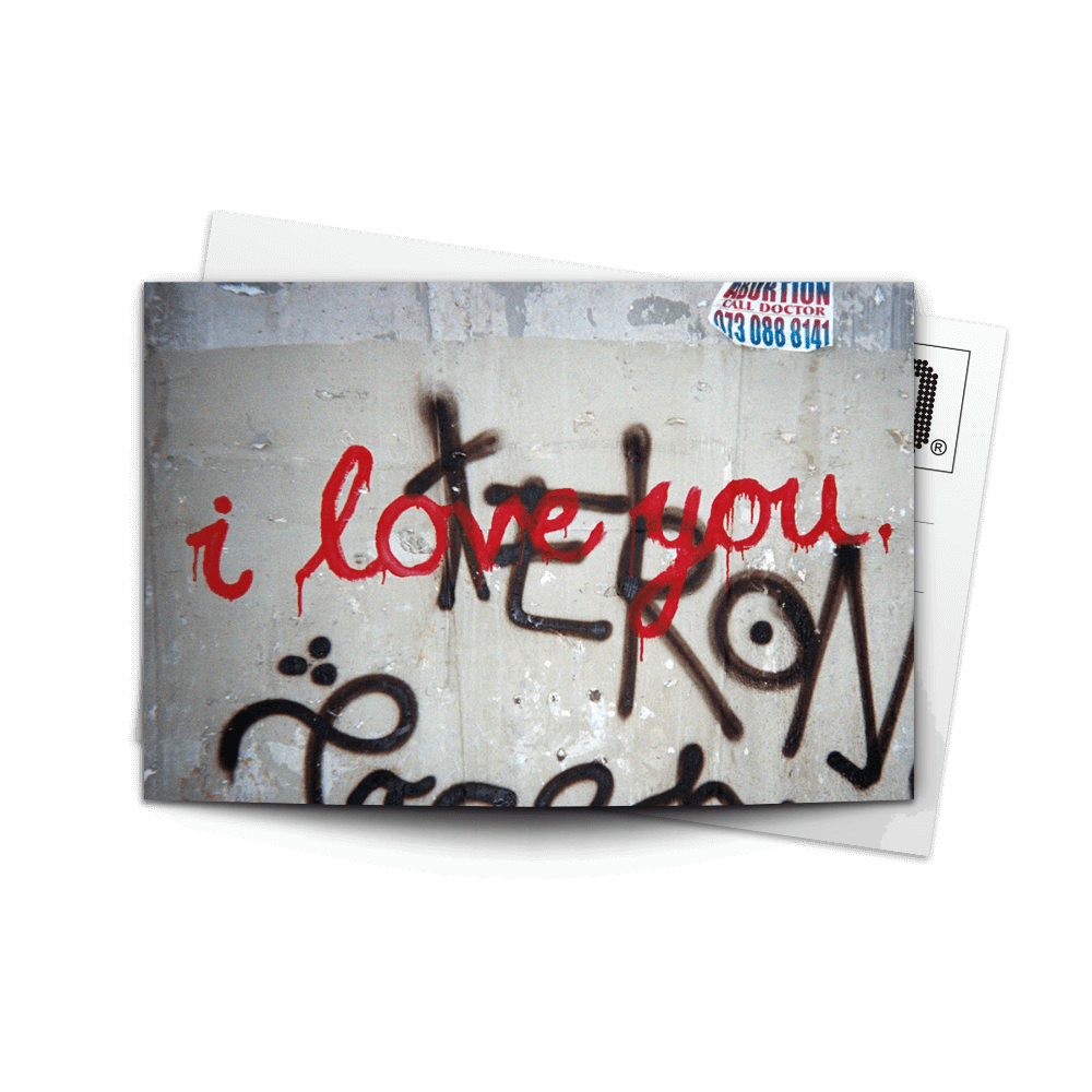 Post Card I Love You | www.iiilovelocal.com