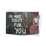 Post Card No More Toilet | www.iiilovelocal.com
