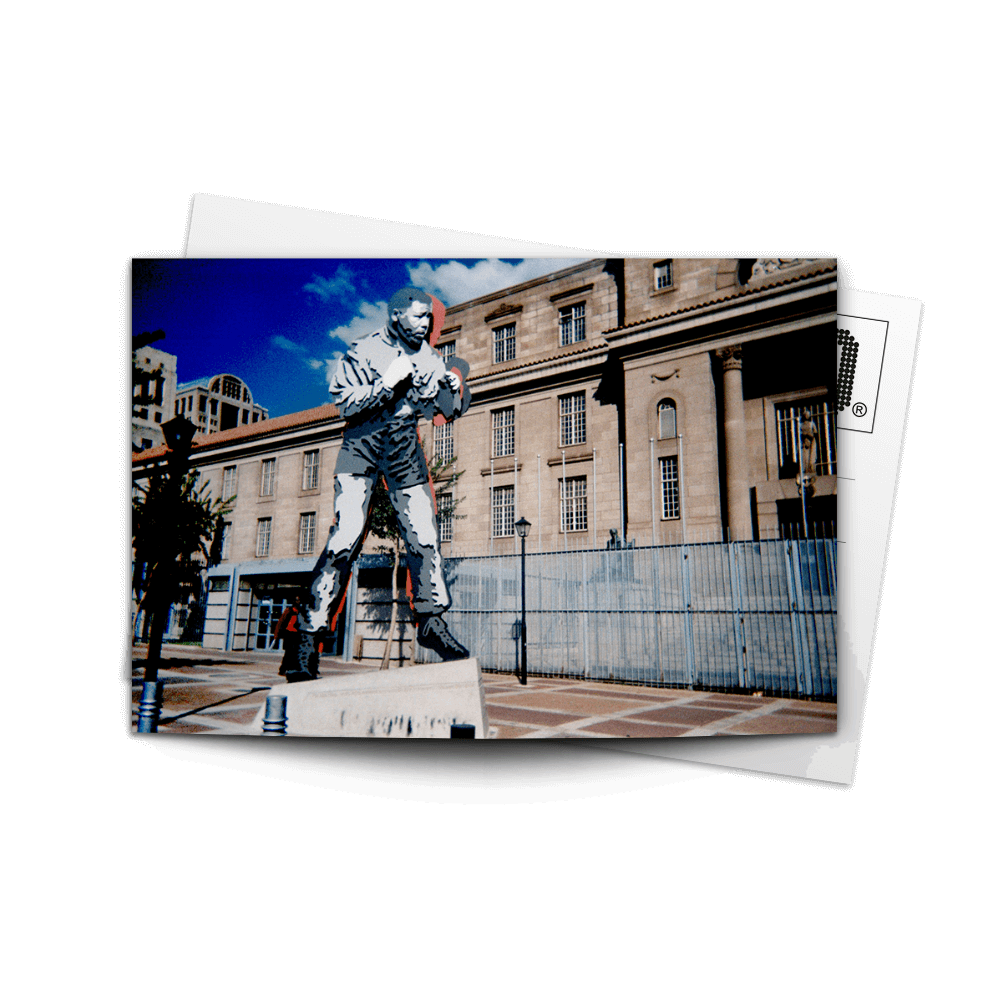Post Card Boxing Madiba Statue | www.iiilovelocal.com