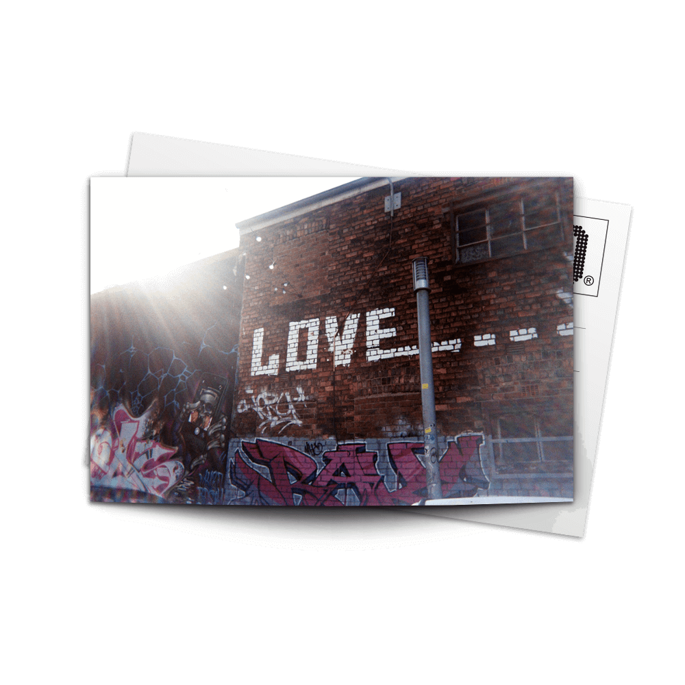 Post Card Love Wall | www.iiilovelocal.com
