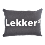 Cushion - Plastic Word LEKKER | www.iiilovelocal.com