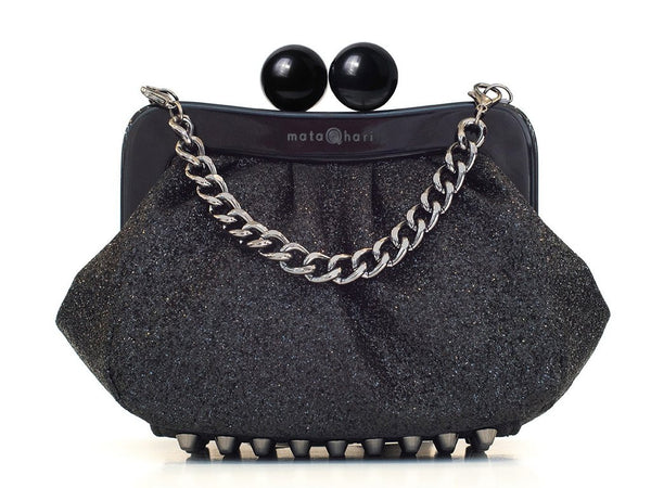AMY Clutch Glitter Black