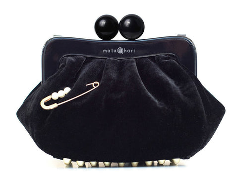 AMY Clutch Velvet Black