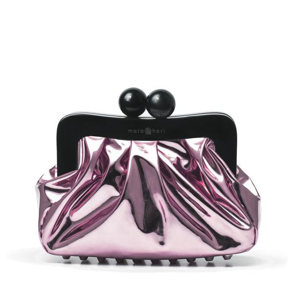 AMY Clutch Metallic Pink Mirror Metal