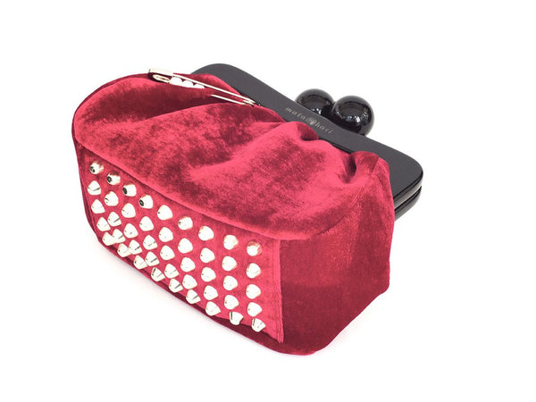 AMY Clutch Velvet Red