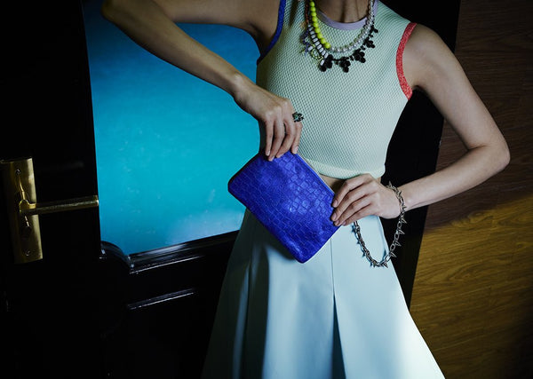 mata hari x Joomi Lim Collaboration CASEY Blue+Black 3-way clutch