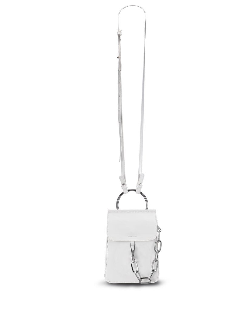 JUDY C. for mata hari: Judy2 Phone Cross-body Purse White