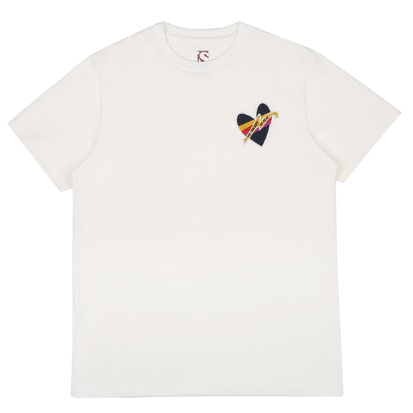 BAD SPORTS™  'No Heart to Play' T-Shirt Off White