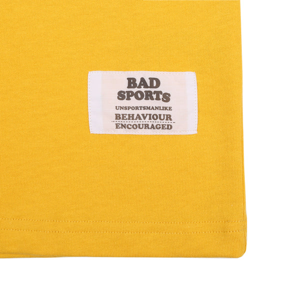 BAD SPORTS™ Classic 'No Sports' T-Shirt Old Gold