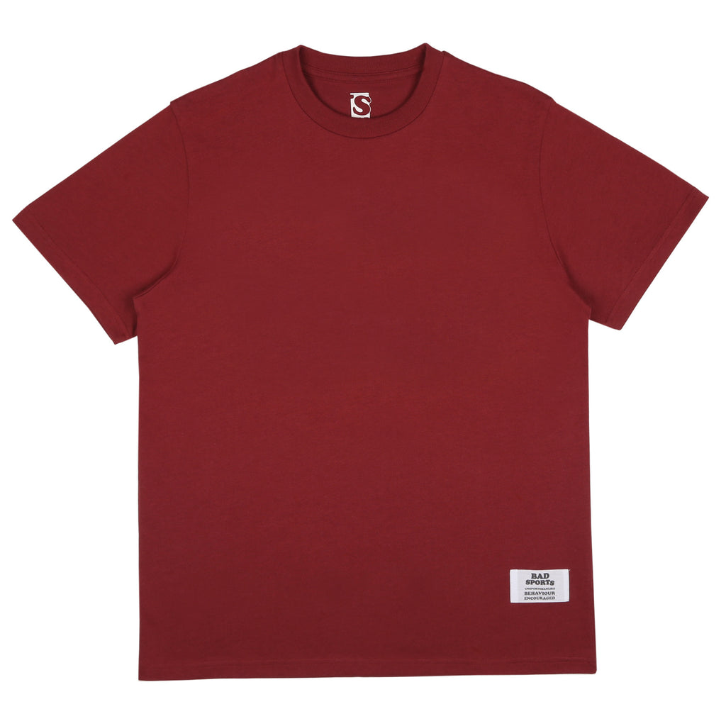 BAD SPORTS™ Classic 'No Sports' T-shirt Burgundy