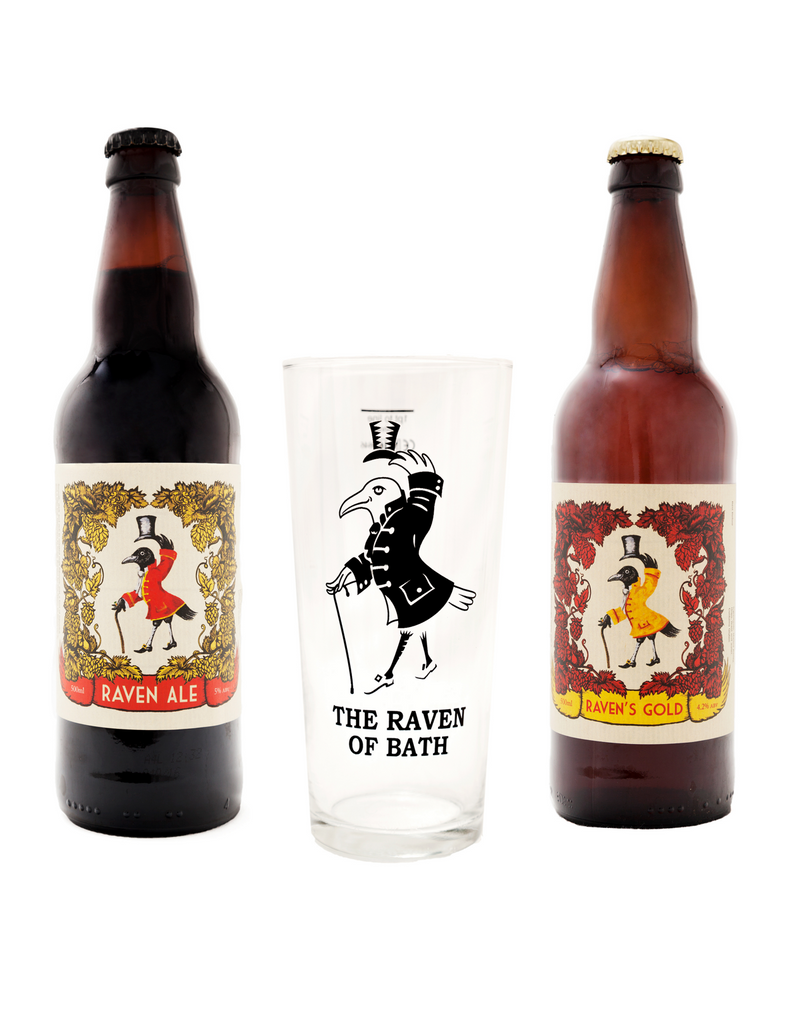 Raven Beers Gift Set with Half Pint Glass