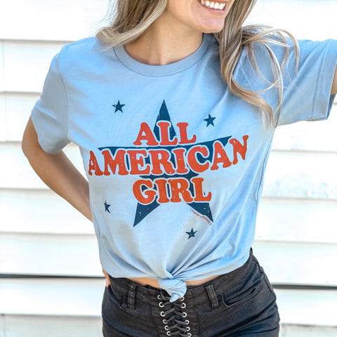 ALL AMERICAN GIRL Graphic Tee