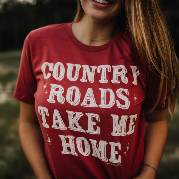 COUNTRY ROADS - GRAPHIC Tees  Edit alt text