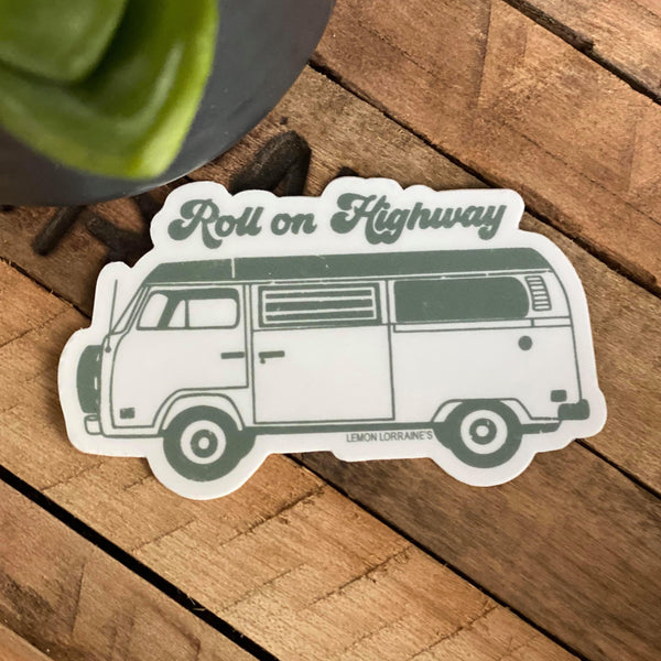 ROLL ON HIGHWAY - Sticker Decals