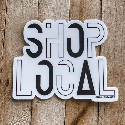 SHOP LOCAL - Sticker Decals