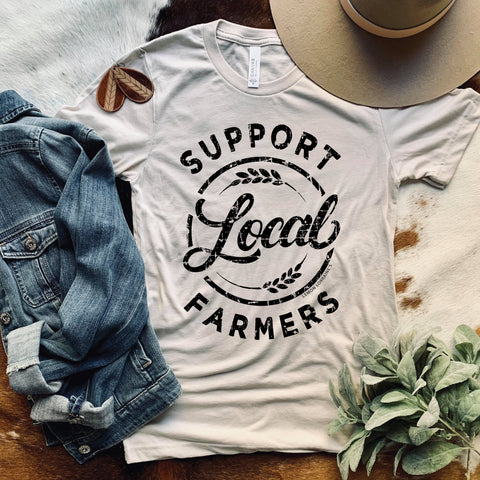 SUPPORT LOCAL FARMERS Heather Dust Tee